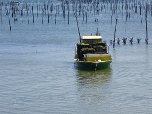 Oyster boat at Cap Ferrat