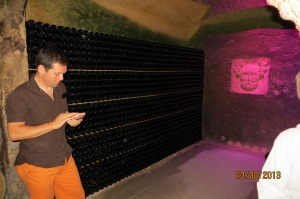 Richard calculating  the value of just this part of the cellar - Yikes