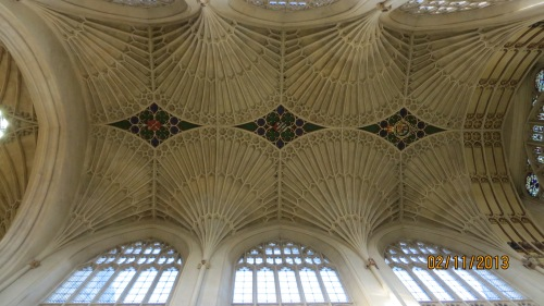 The Amazing ceiling above the main aisle in Bath Abbey